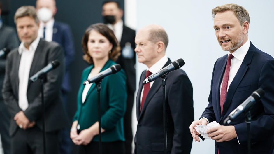 Auf dem Weg zur ersten Ampel-Koalition für Deutschland.