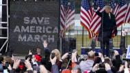Bereitete der Gewalt am Kapitol den Boden: der amerikanische Präsident Donald Trump am 6. Januar bei einer Kundgebung in Washington