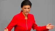 Die Fraktionschefin der Linkspartei, Sahra Wagenknecht, im Bundestag.
