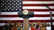 Gespannte Erwartung vor einer Rede Obamas zum Schuldenstand an der Universität Maryland
