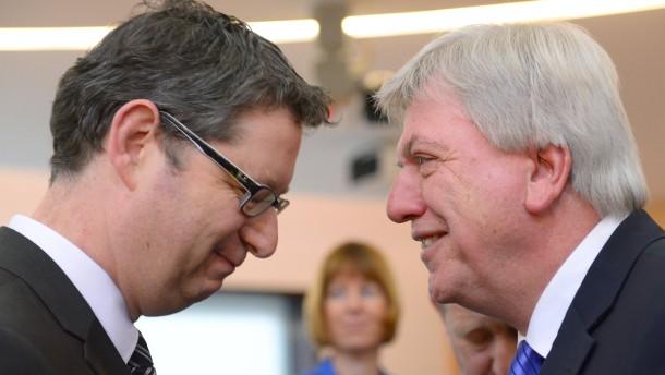 Bouffier und Schäfer-Gümbel und die Vertrauensfrage
