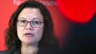 Die SPD-Vorsitzende Andrea Nahles