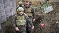 Auf Truppenbesuch: Wolodymyr Selenskyj