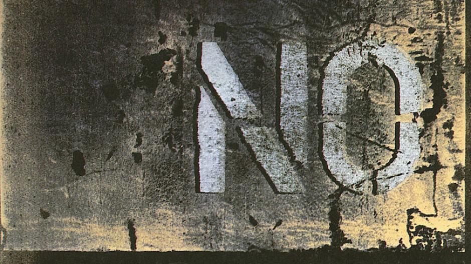 Gerd Winner, No, 1983, Mischtechnik auf Leinwand