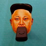 """Er hat sicher seinen eigenen. Kim Jong-un, wie ihn die """"Human Rights Watch Foundation"""" bei einem Hackertreffen Ende Juli in Las Vergas dargestellt hat."""