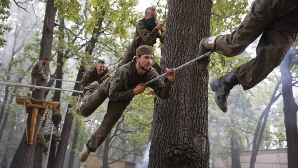 Crisis in Ukraine - Azov Battalion recruts training
