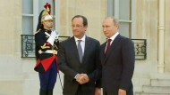 Hollande trifft Putin in Paris