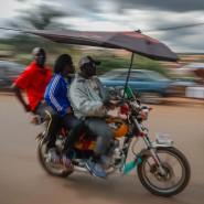 Motorrad-Taxi in der Hauptstadt Yaounde