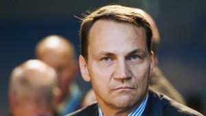 Sikorski gibt Präsidenten Mitschuld an Krise