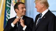 Emmanuel Macron (links) und Donald Trump auf dem G-7-Treffen am 7. Juli 2017 in Hamburg