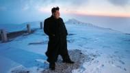 Kim Jong-un wird zum Bergsteiger