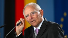 Schäuble mahnt EU zu mehr Entschlossenheit