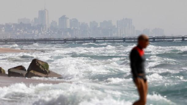 Israel baut Seebarriere zum Gazastreifen