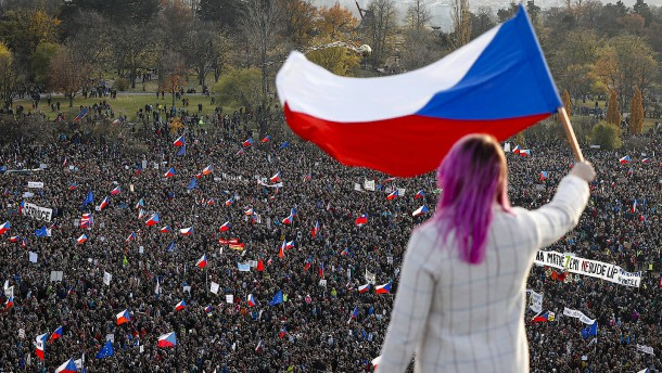 Protest in Prag