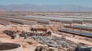 Stromfabrik der Superlative am Wüstenrand: Das Kraftwerk in Ouarzazate soll 2100 Fußballplätze groß werden.
