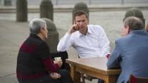 Bitte recht nachdenklich: Dulig in Dresden im Dialog