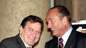 Schröder und Chirac schlagen Doppelspitze für EU vor