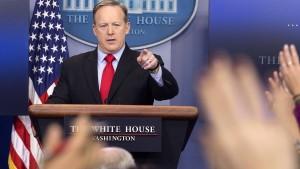 Wie Trumps Sprecher die Presse verstört