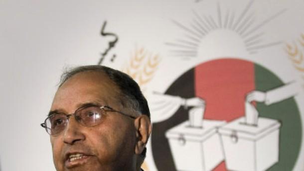 Chef der afghanischen Wahlkommission tritt ab