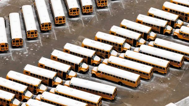 Schnee und Kälte überraschen Texas