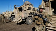 Im Kampf gegen die Terrormiliz IS im Irak: Amerikanische Soldaten nahe Mossul.
