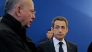 Das Aufnahmegerät in der Brusttasche: Buisson (links) mit Sarkozy