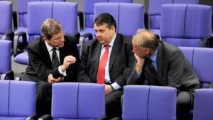 Die Regierung umwirbt die SPD