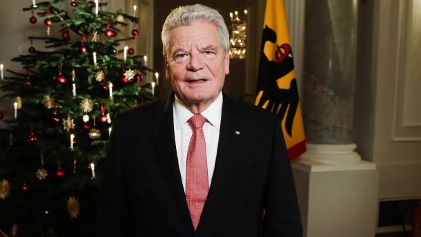 """Gauck: """"Wir verteidigen die Mitmenschlichkeit"""""""