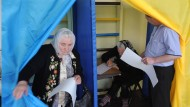 Ukrainer wählen Präsidenten