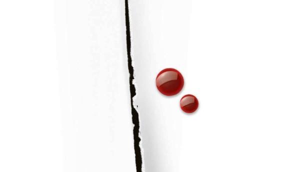 Schnitt in weissem Papier - Fotoillustration Beschneidung