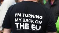 Nichts wie weg aus Brüssel: Brexit-Fan aus Birmingham