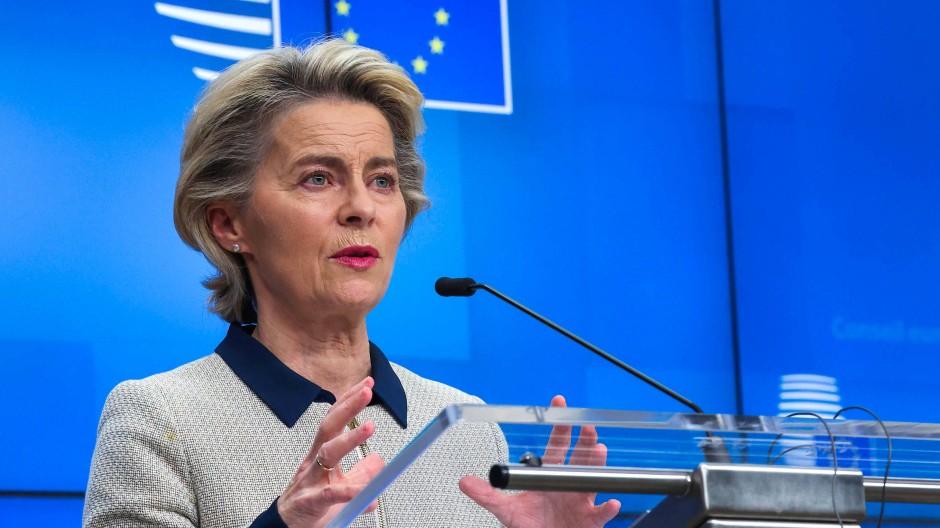 Verfahrene Lage: EU-Kommissionspräsidentin Ursula von der Leyen nach dem Gipfel in Brüssel.