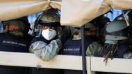 Die Nationalgarde rollt in der Hauptstadt Washington ein.