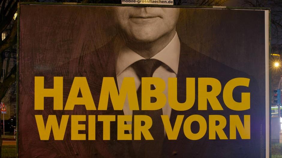 Drei Worte zum Sieg: Das zentrale Wahlplakat der Hamburger SPD