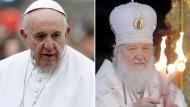 Historisches Treffen von Papst Franziskus und Patriarch Kirill