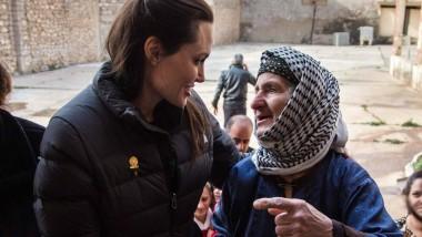 Zu Besuch bei Flüchtlingen im Irak: Angelina Jolie