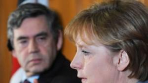 Merkel und Brown erwarten weitere Unterwerfungen
