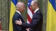Amerikanischer Vizepräsident Biden besucht Ukraine