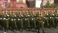 Russland erinnert mit Militärparade an den Sieg über Nazi-Deutschland