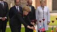 Regierungschefs gedenken der Opfer des Ersten Weltkriegs
