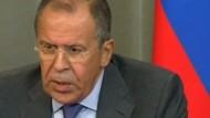 Russischer Außenminister Lawrow warnt Kiew