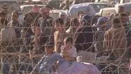 Massenflucht aus Syrien hält an