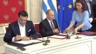 Russland und Griechenland wollen Handel ausweiten