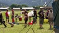 Gegner bauen ihre Zelte auf