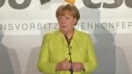 Merkel mit Ausblick auf EU-Sondergipfel