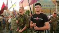 Rechter Sektor demonstriert in Kiew