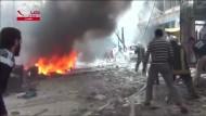 Amateurvideos sollen Bombardements auf Aleppo und Homs zeigen