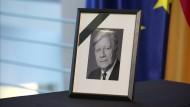 Trauer um Helmut Schmidt