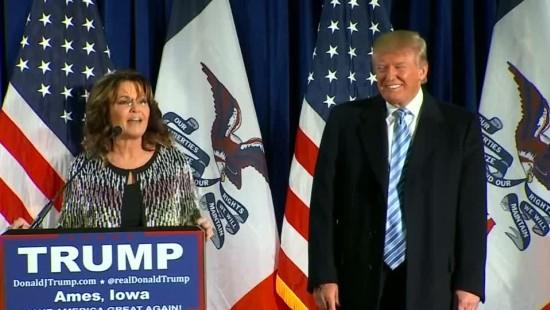 Tea-Party-Ikone Palin unterstützt Trump