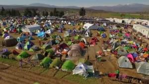 Drohnenbilder zeigen Zeltlager in Idomeni